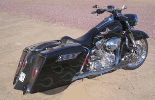 Harley 4 Inch Stretched Bags And Fender